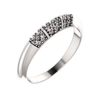 14k White Gold 1/5ct Diamond Wedding Band