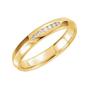 14k Yellow Gold 1/10ct Diamond Wedding Band