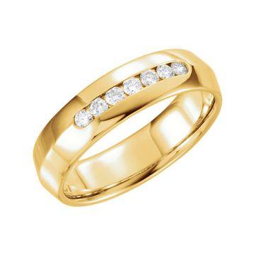 14k Yellow Gold 1/4ct Diamond Wedding Band