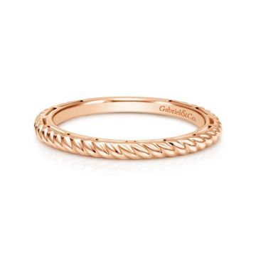 Gabriel & Co. 14k Rose Gold Stackable Ring