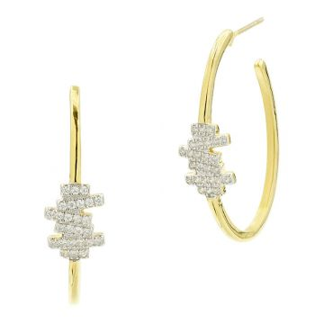 Freida Rothman 14k Yellow Gold Plated Sterling Silver Hoops