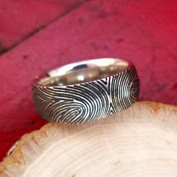 Jak Figler Sterling Silver Bangle Ring
