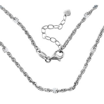 Charles Garnier Sterling Silver with CZ Colette N17 Necklace