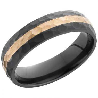 Lashbrook Black & Rose Zirconium Men's Wedding Band